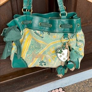 JUICY Couture | keychain teal print purse